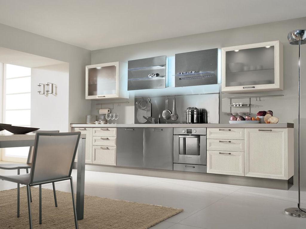 Серый кухонный гарнитур фото 1
